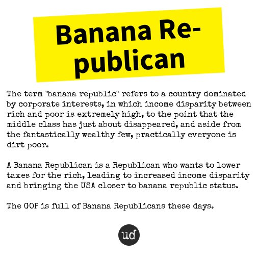 banana republic definition urban dictionary