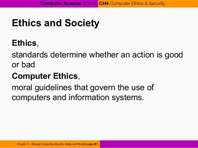 computer science ethics application
