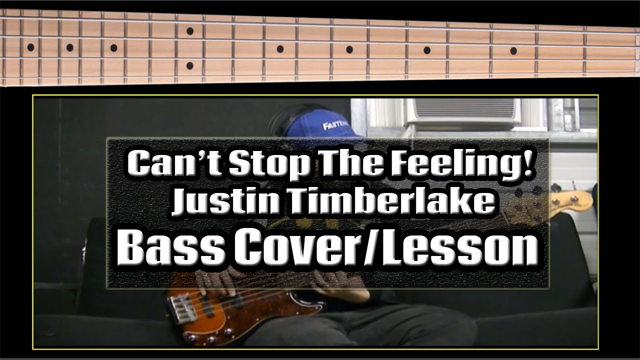 can t stop the feeling bass pdf