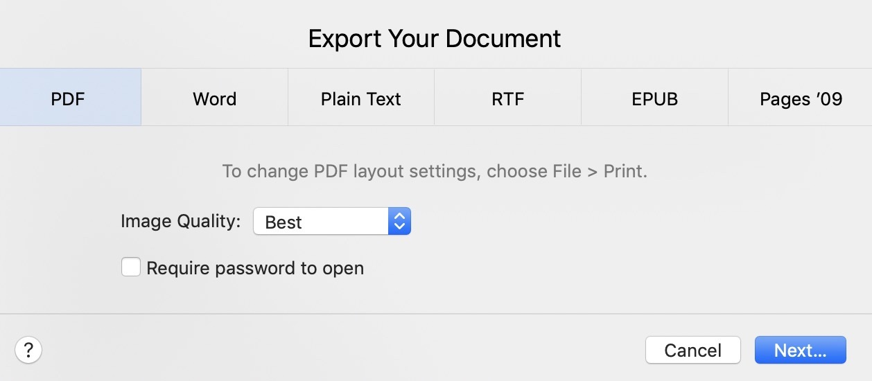 convert pdf to docx on mac