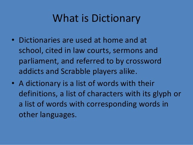 dictionary nonwool