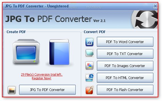 automatically convert jpg to pdf