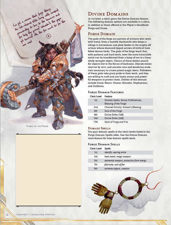 5e cleric guide forge