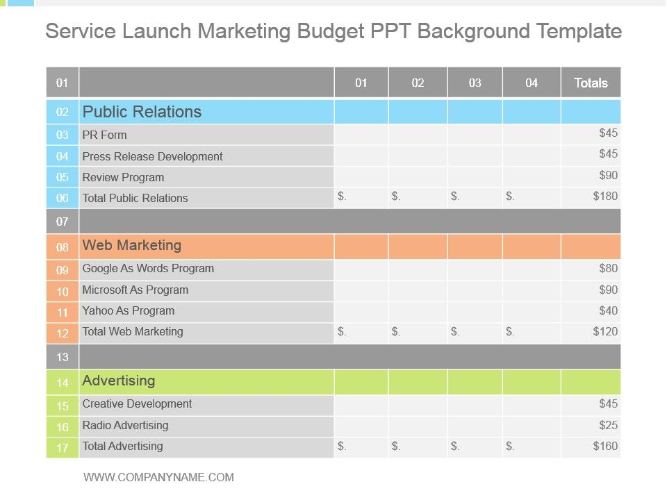 budget review sample