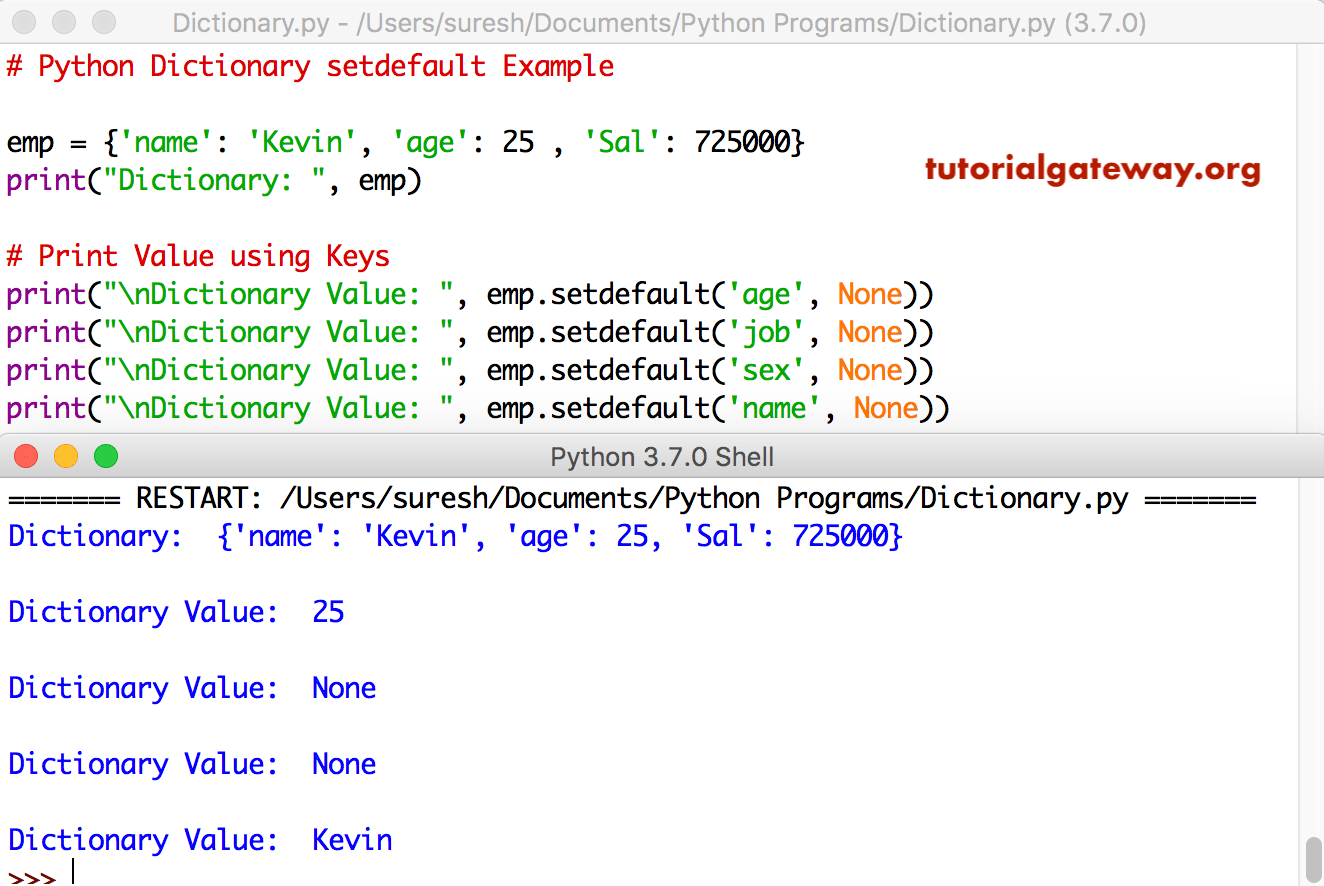 dictionary in a dictionary python