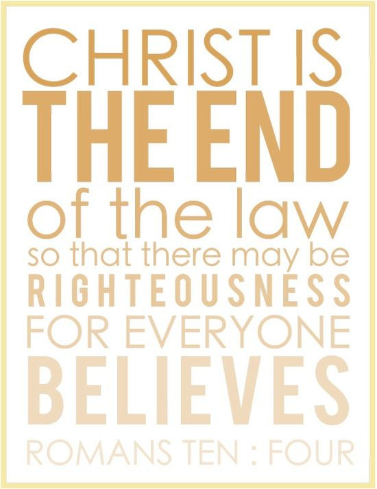 christ the end of the law pdf