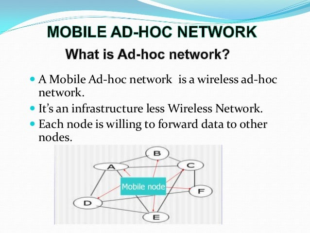 an ad hoc broadcasting application by way of mobile devices