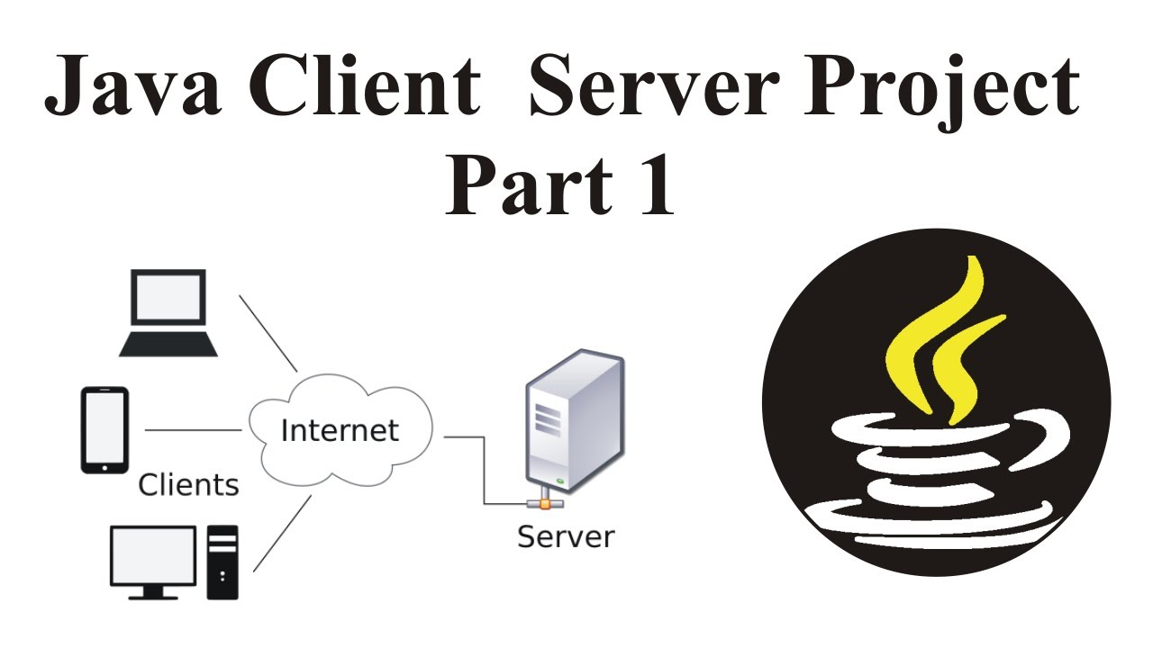 client server application code in java