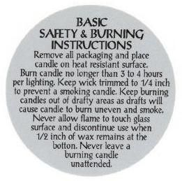 candle burning instructions
