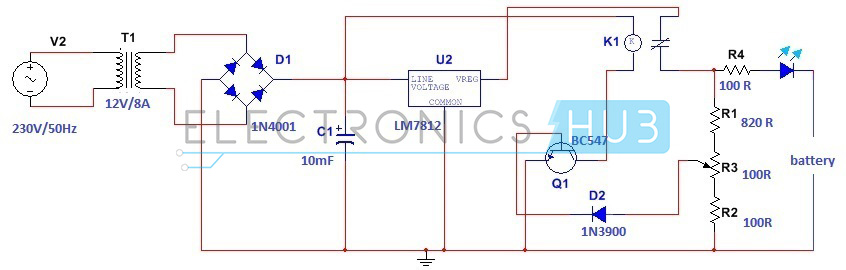 car battery charger circuit diagram pdf