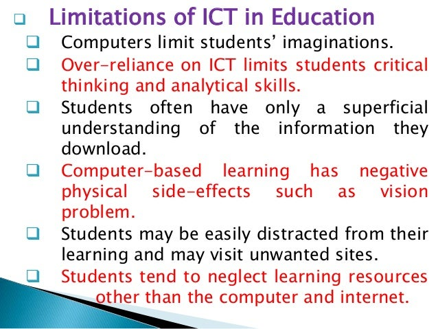 disadvantages of ict in education pdf