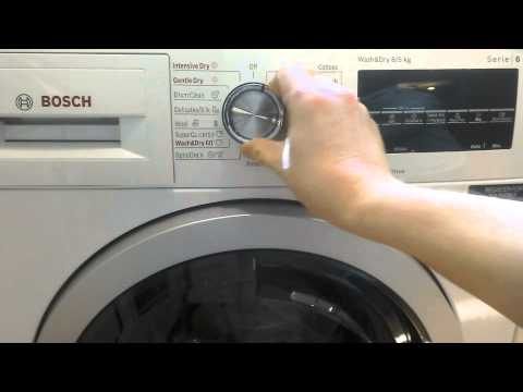 bosch washer dryer series 6 manual