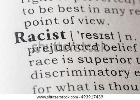 dictionary definition of racism
