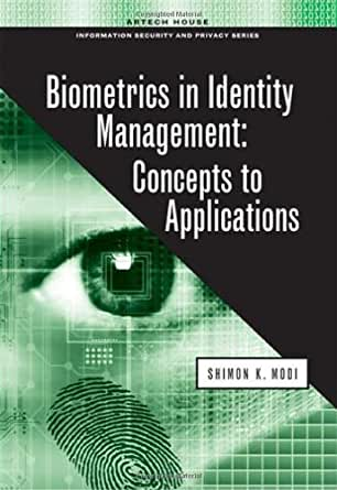biometrics in identity management concepts to applications pdf