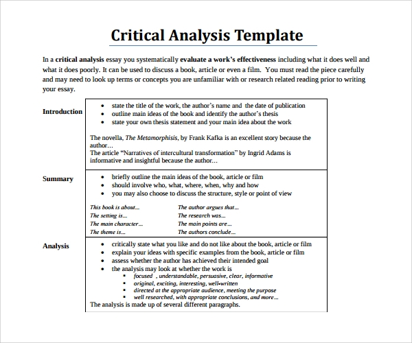 analyse a book review sample