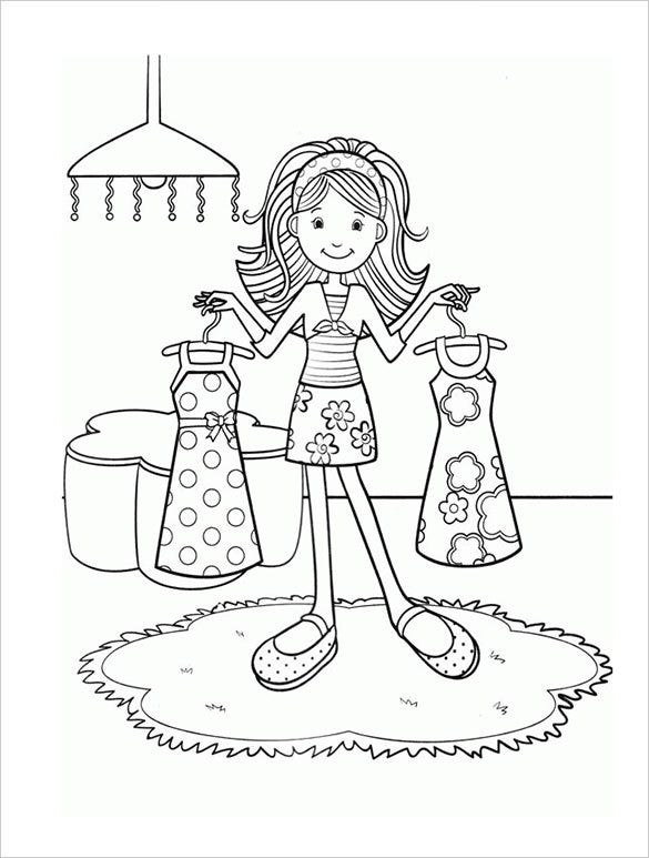 coloring pages for girls pdf