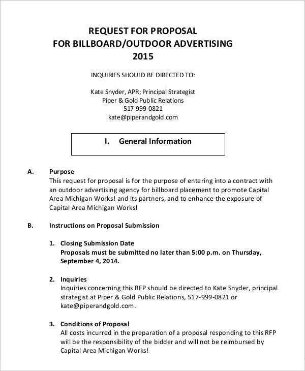 advertising proposal sample doc