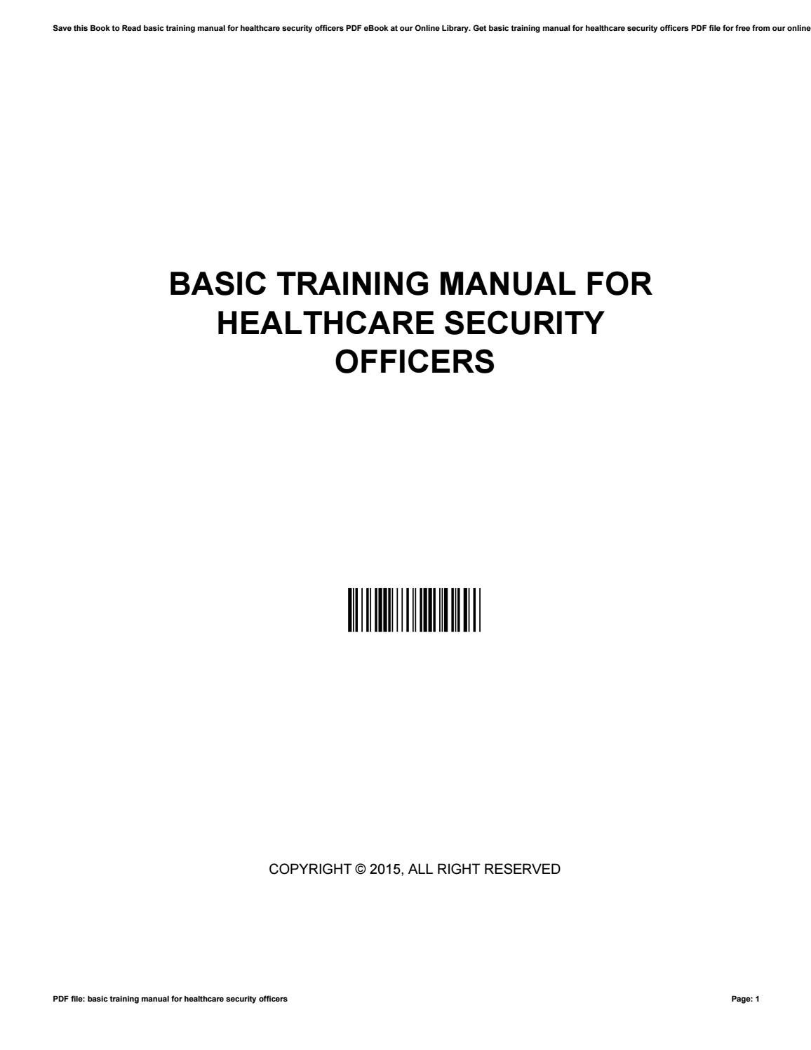 basic surveillance course training manual pdf