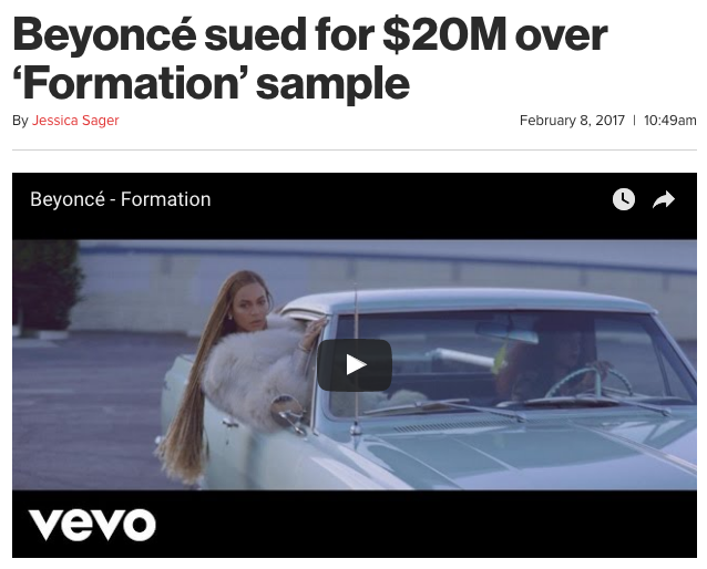 beyonce formation sample