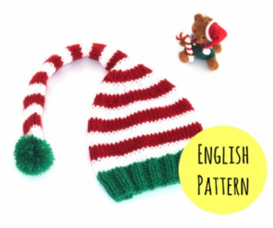 child size elf alippers knitting instructions