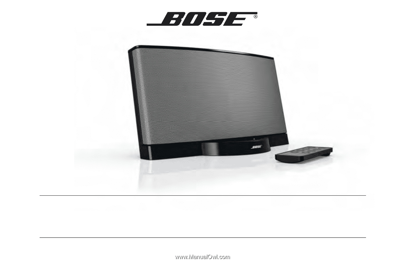 bose sounddock xt manual