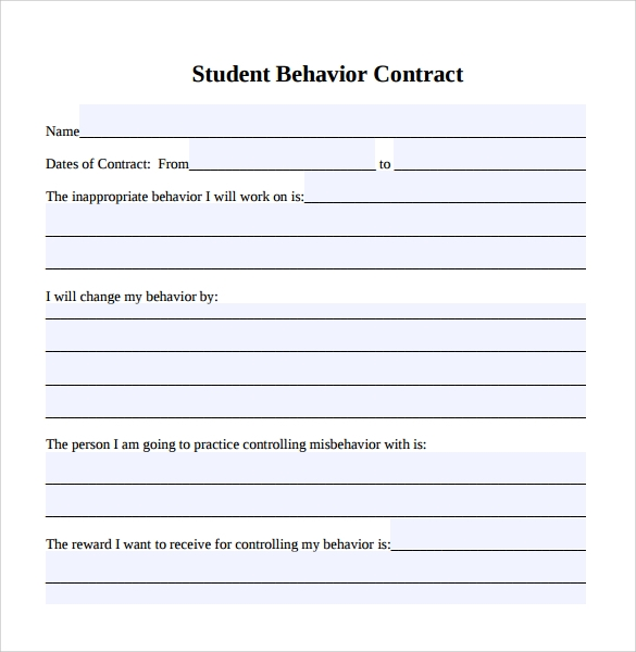 classroom agreements sample