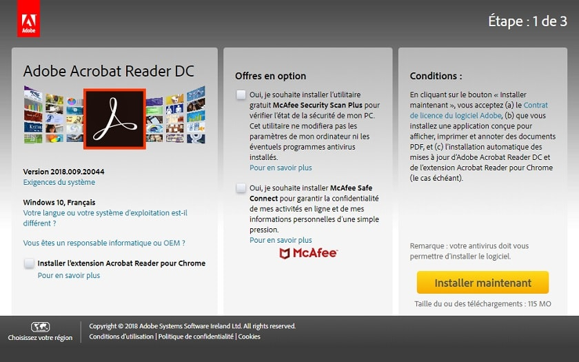 adobe pdf writer and reader free download