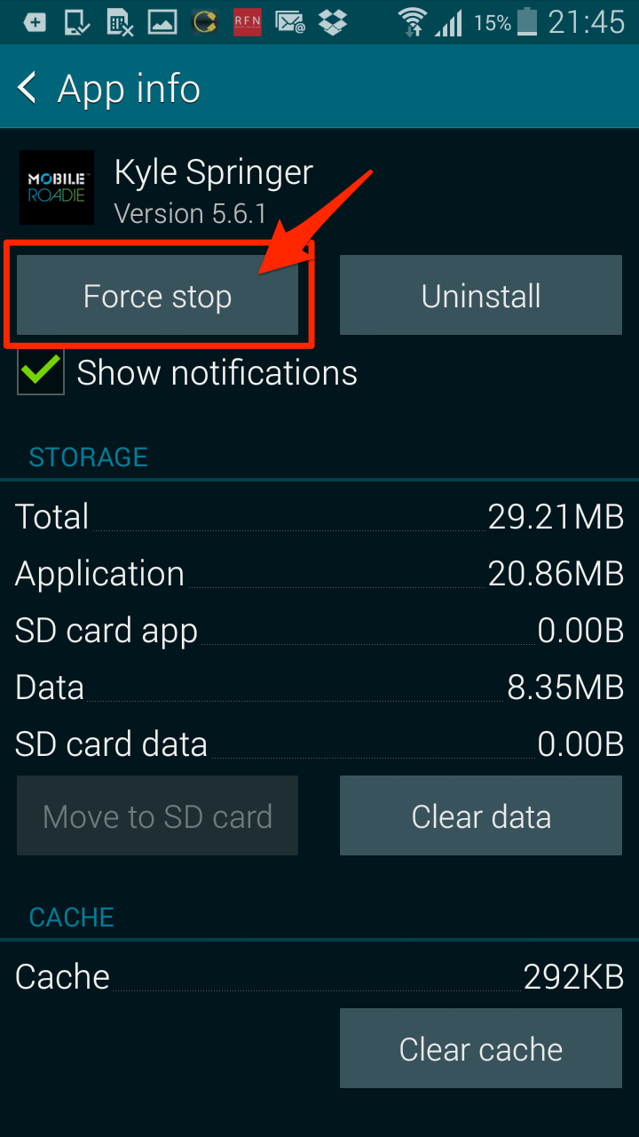 android quit application