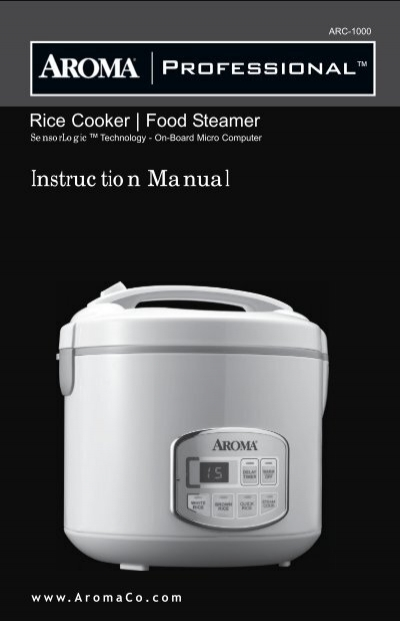 aroma 10 cup rice cooker instructions