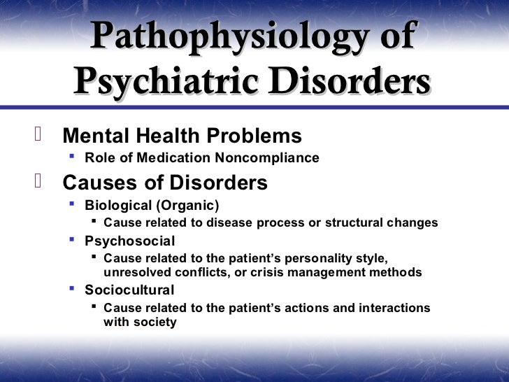 causes of mental disorders pdf