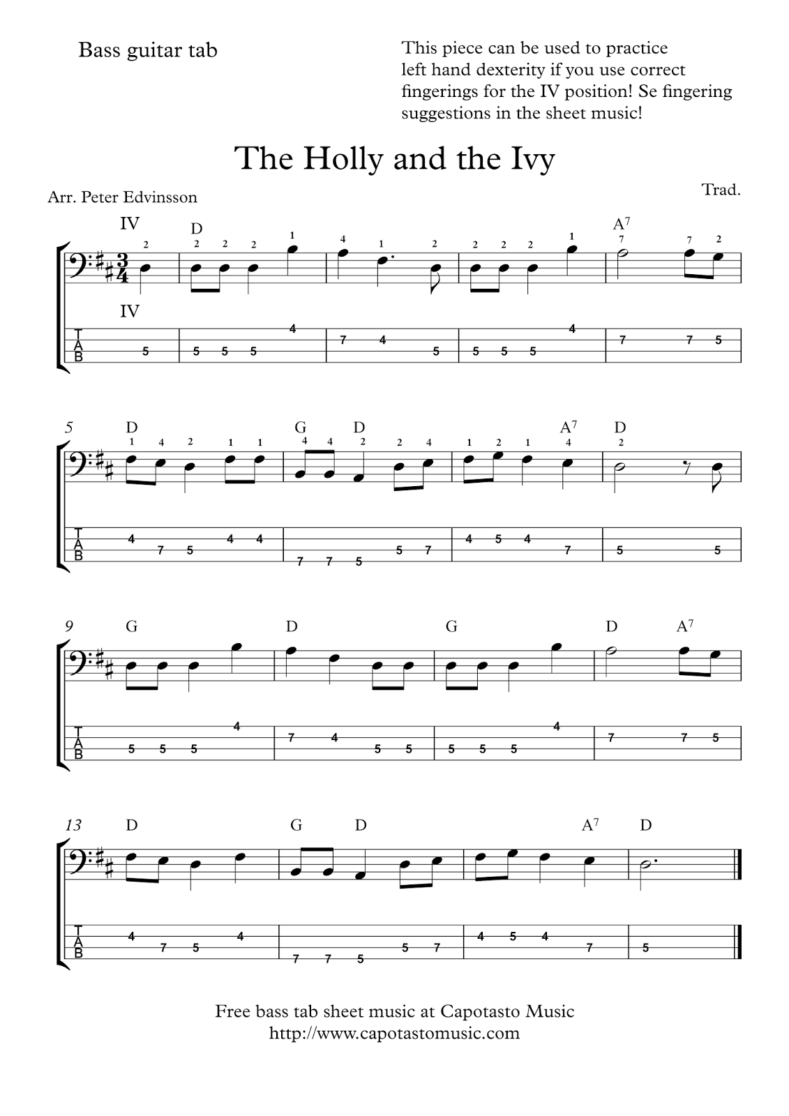 bass guitar tab sheet music pdf
