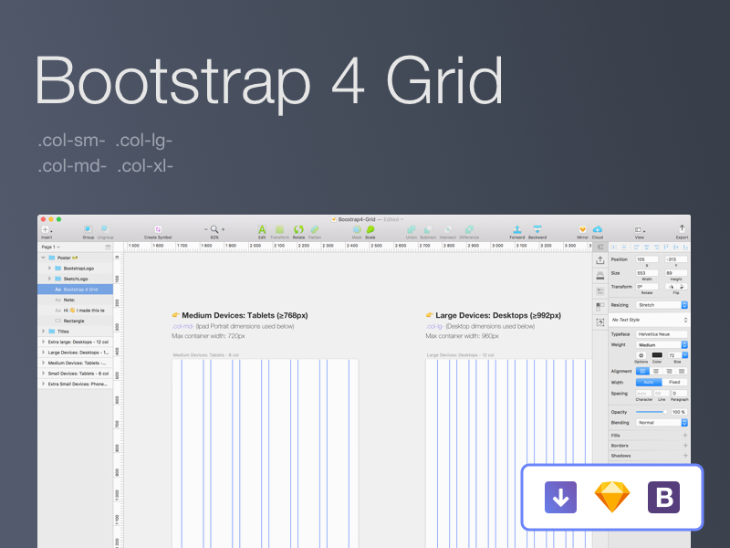 bootstrap 4 documentation grid