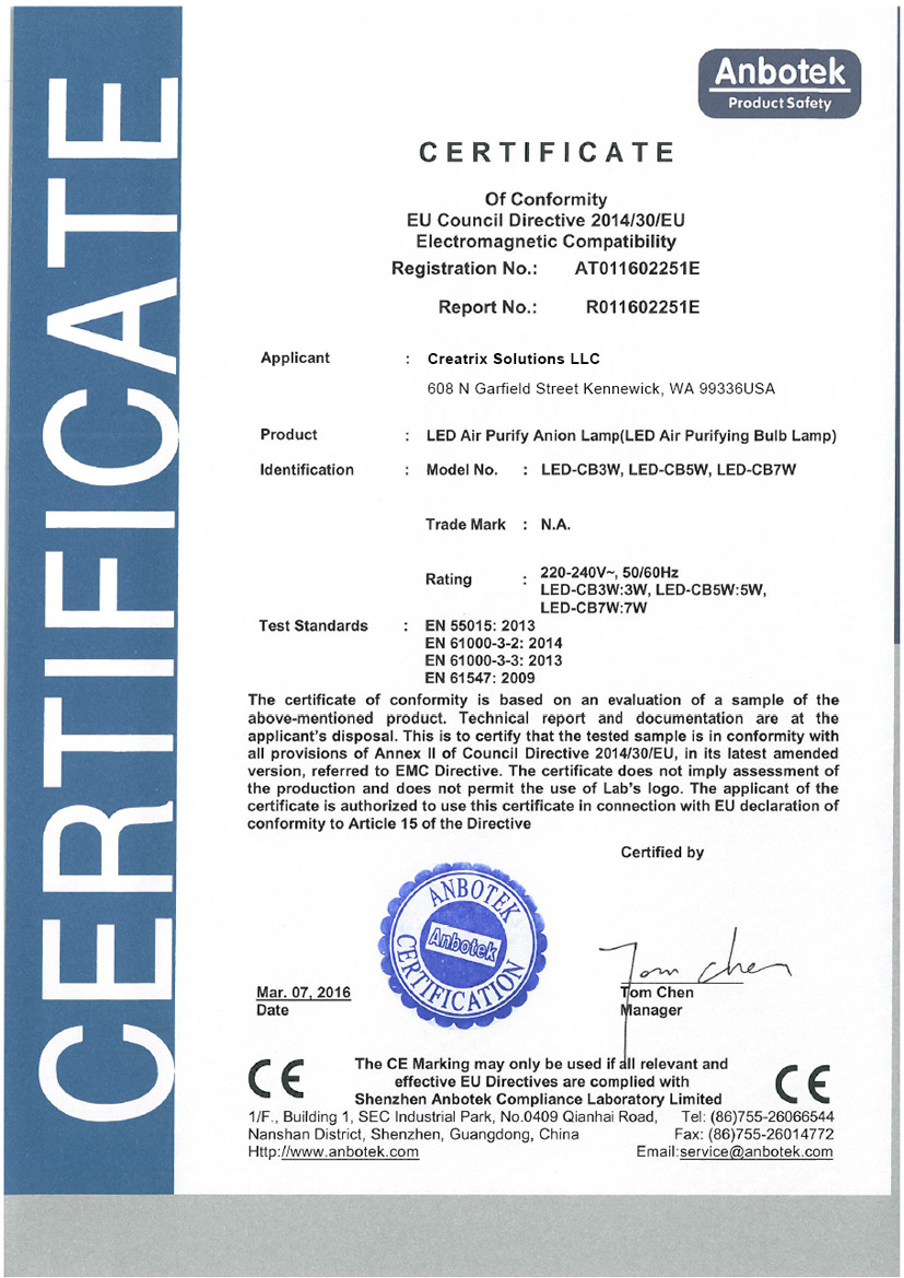 cb certificate sample