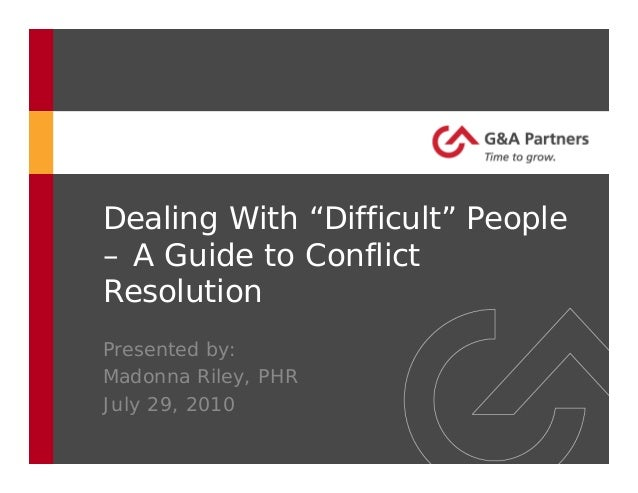 conflict resolution a foundaation guide