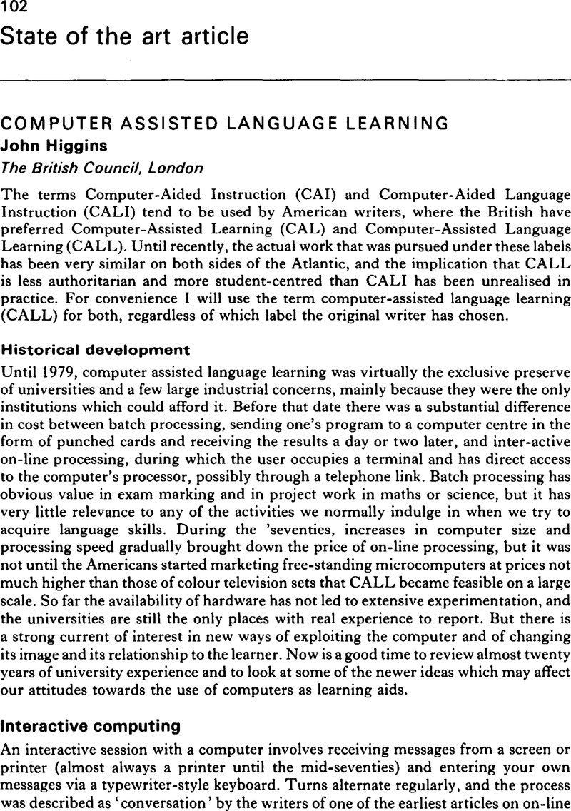 contemporary computer-assisted language learning pdf