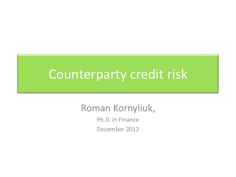 counterparty credit risk pdf