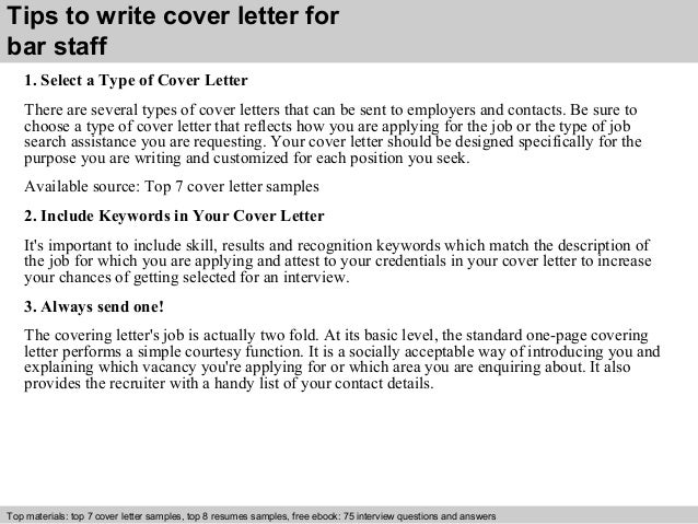 cover letter sample kitchen staff