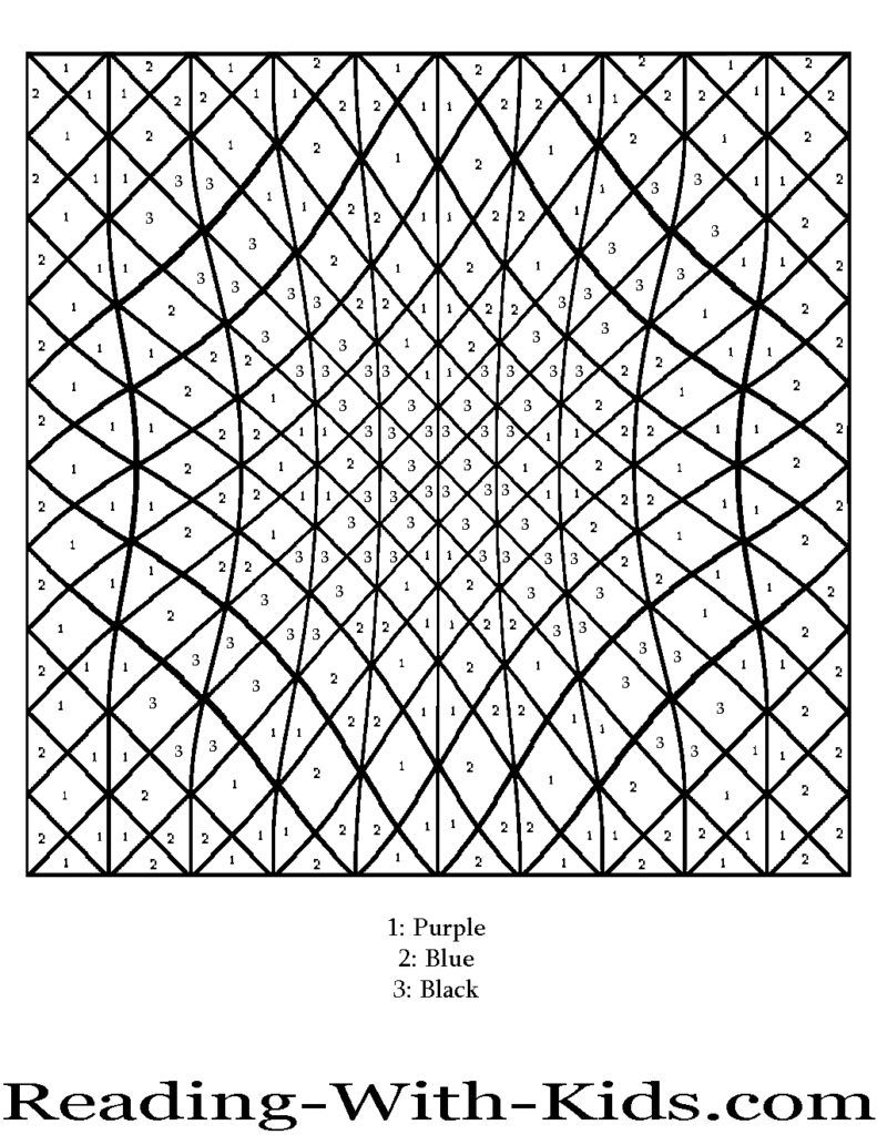 difficult color by number printables pdf