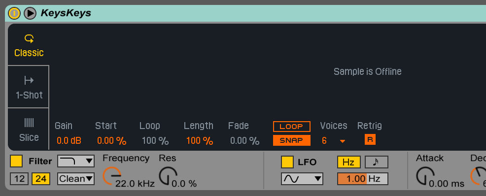 ableton replace sample
