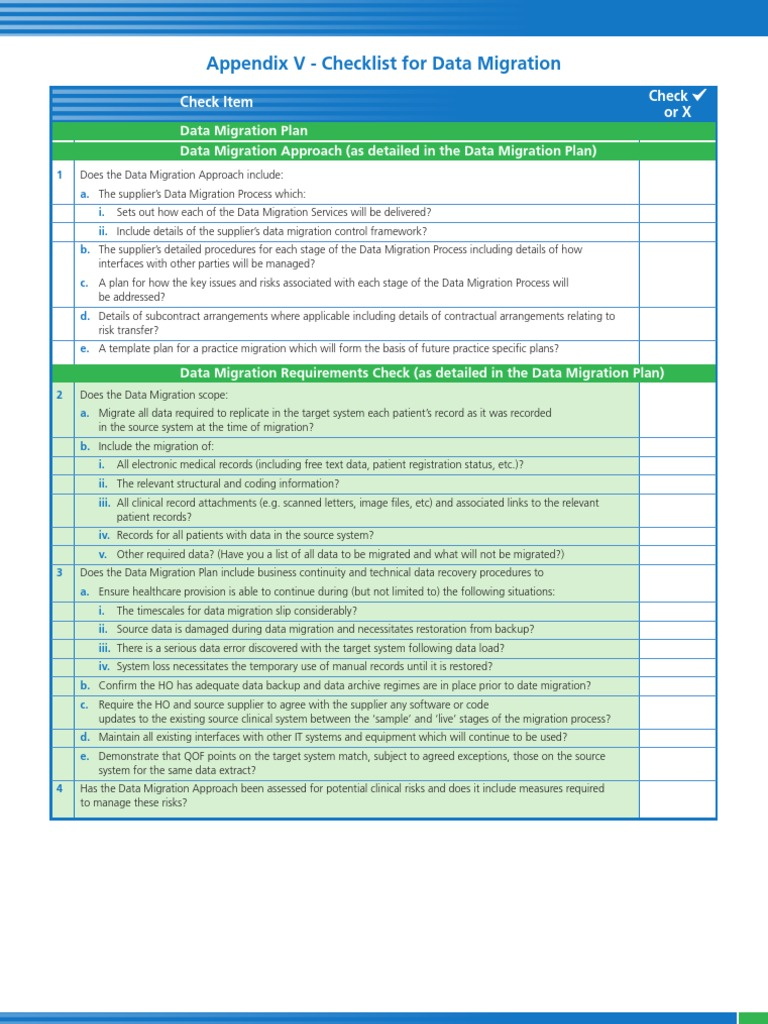 data migration checklist pdf