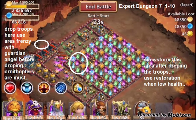 castle clash expert dungeon guide